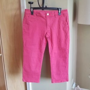 Old Navy Pink Denim Capris